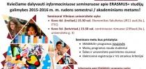 besidomintiems ERASMUS+ studijomis